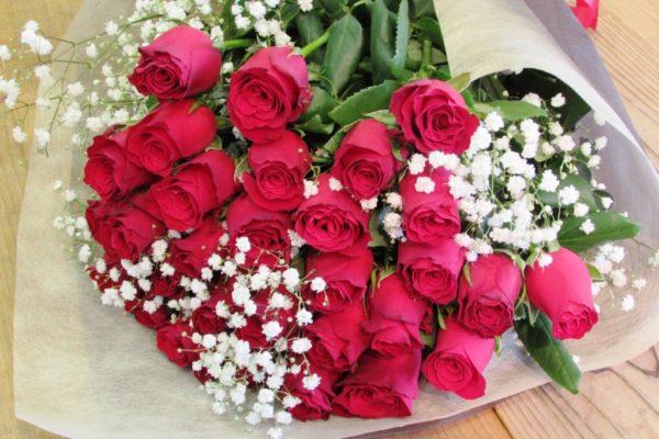 赤薔薇の花束トリプル