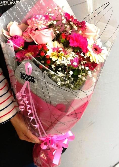 長い形の花束