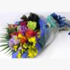 季節のお花たっぷりおまかせ長い形の花束-おまかせ