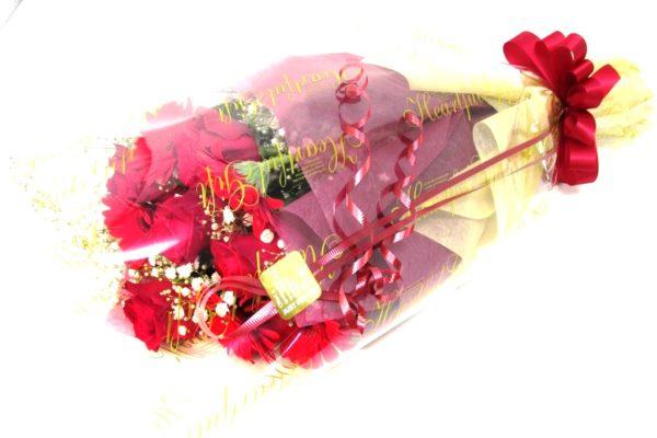 赤薔薇とガーベラの花束
