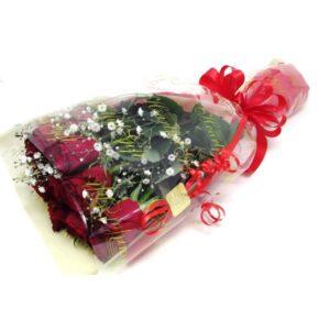 Passionate-赤薔薇とかすみ草の花束